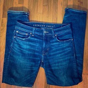 ✅AEO Next Level Flex Slim Straight Blue Jean 31x32